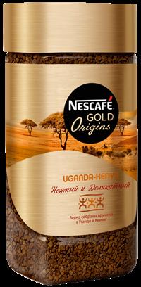 Кофе растворимый NESCAFE Gold Origins Uganda – Kenya натуральный, ст/б, 85г