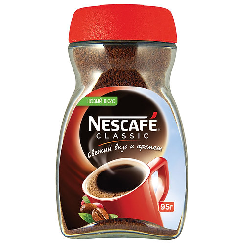 Кофе растворимый с добавлением молотого NESCAFE Classic ст/б, 95г