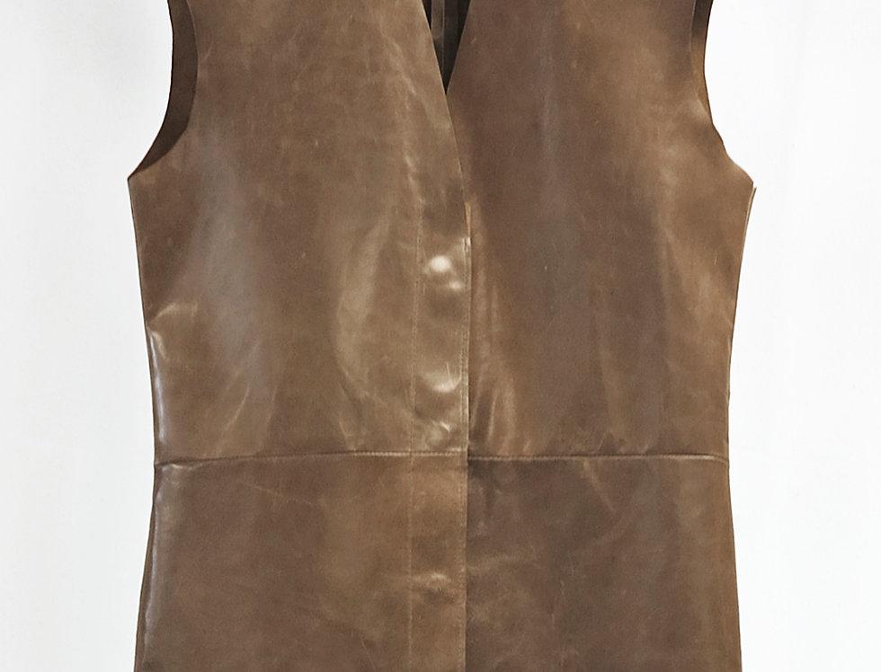 Pre-Order No.146 Leather Panel Vest