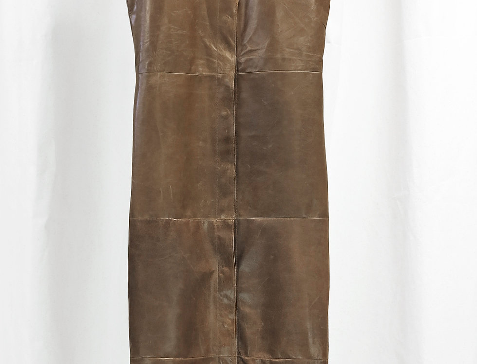 Pre-Order No.149 Leather Panel Dress