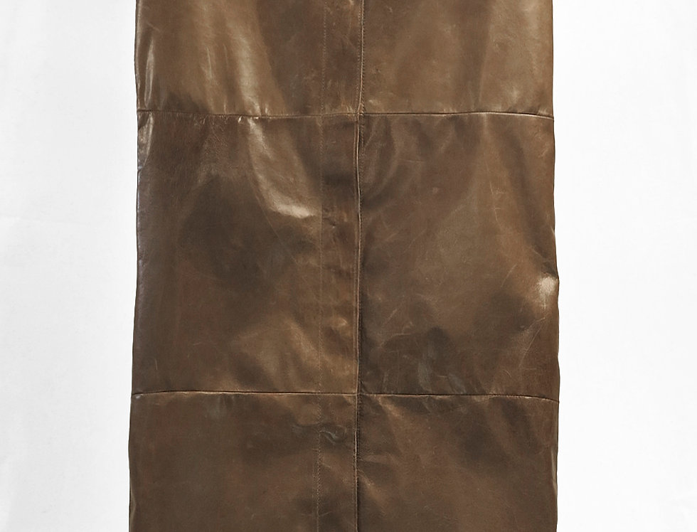 Pre-Order No.148 Leather Panel Skirt