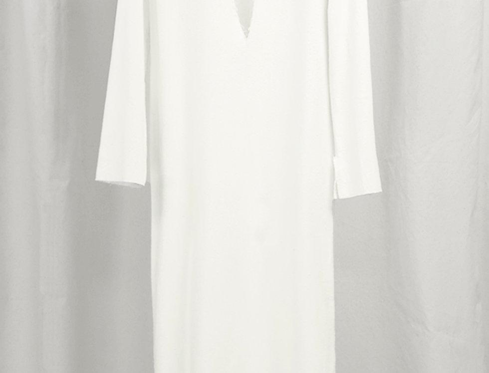 Pre-Order No.125 Bourette Silk Longsleeve Dress