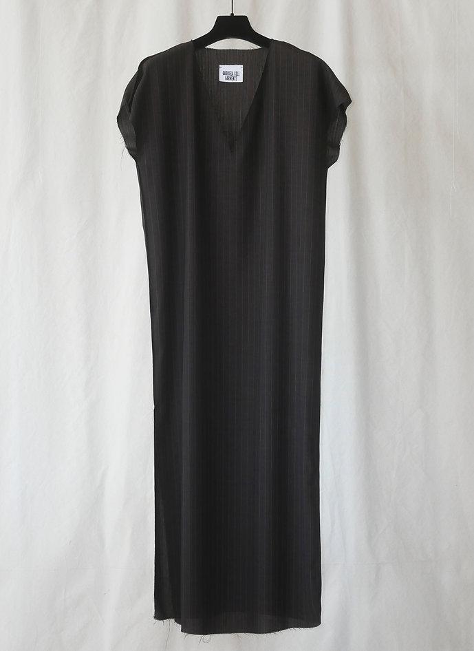 No.49 Pinstripe Long V Neck Dress Pre-order