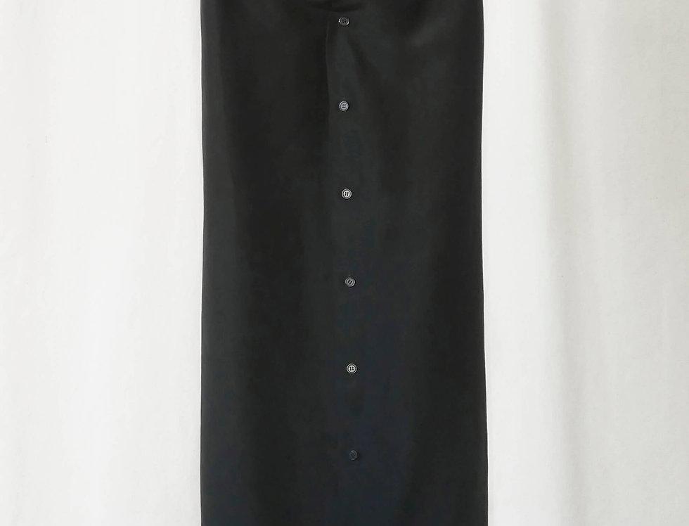 No.51 Bottoned Silk Skirt