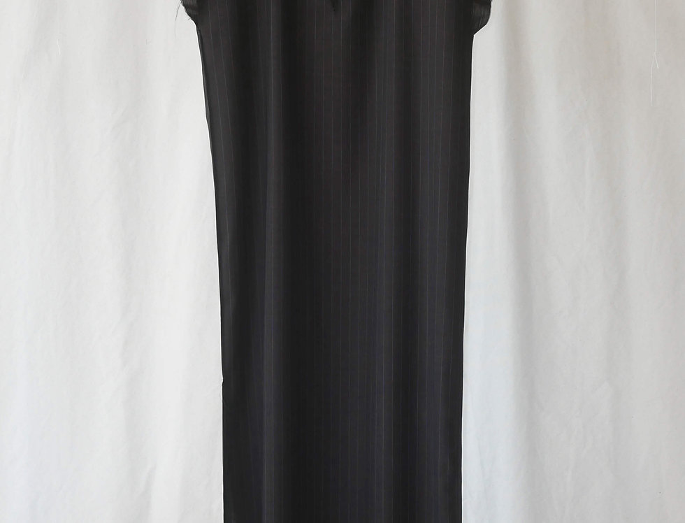 No.49 Pinstripe Long V Neck Dress