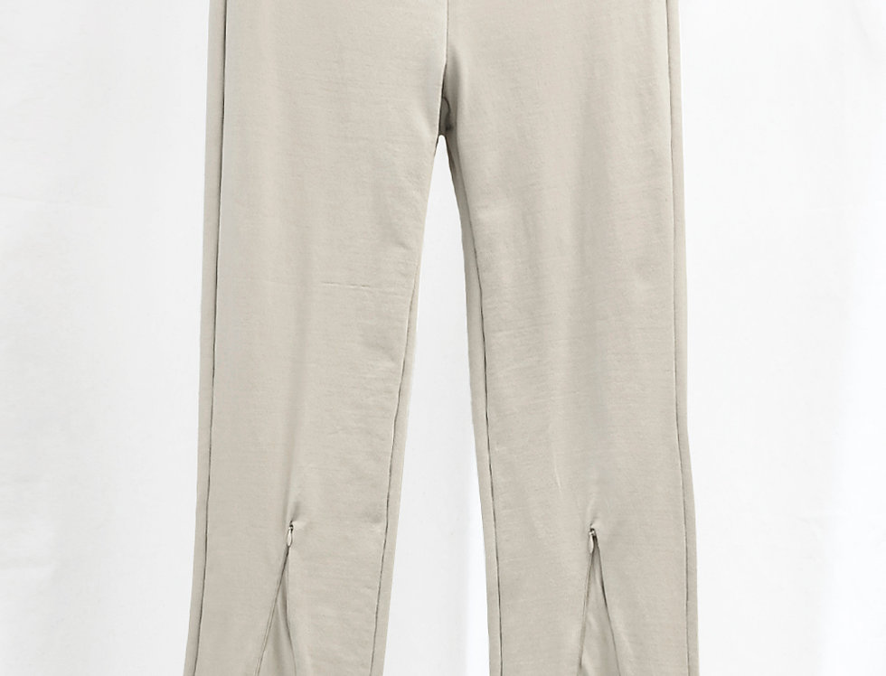 Pre-Order No.152 Nylon Knitted Zipper Trousers