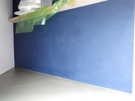 TODOKEL改修計画 アクセント塗装壁完了!
