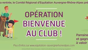 PRÉPAREZ LA RENTRÉE : le CRE ARA lance l'opération « Bienvenue au club »