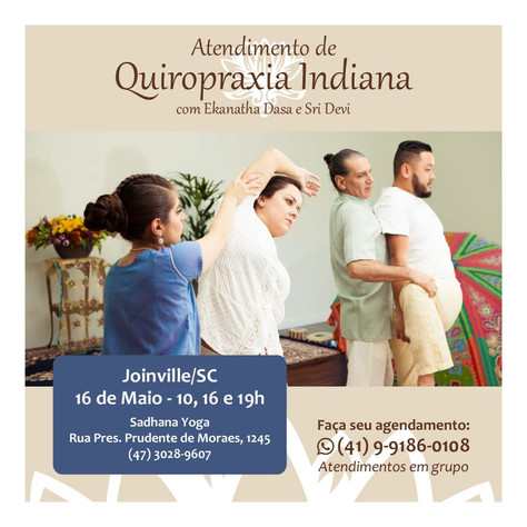 Atendimento com Quiropraxia Indiana - 16.maio