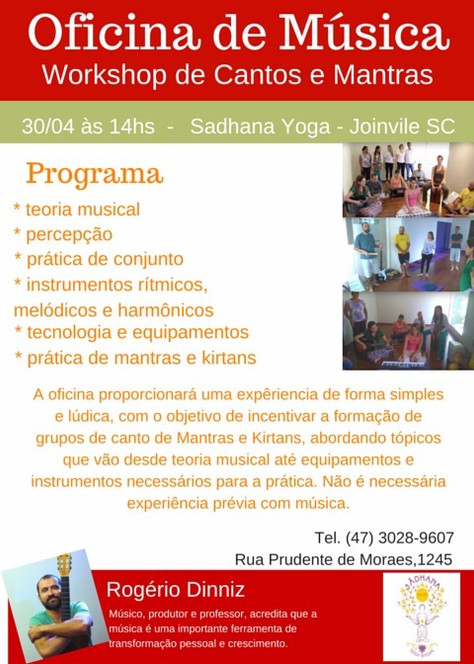 Workshop de Cantos e Mantras
