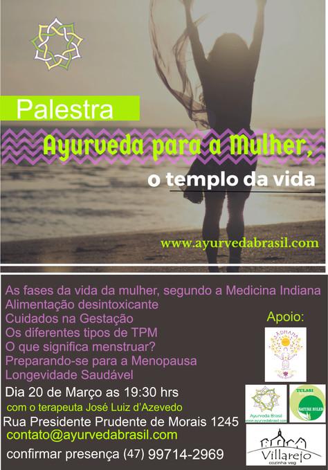 """Palestra """"Ayurveda para a mulher"""" - 20.março"""