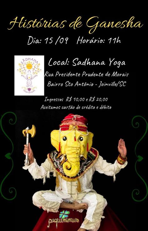 """Espetáculo """"Histórias de Ganesha"""" - 15.setembro"""