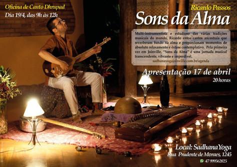 "Recital e oficina ""Sons da Alma"" - 17 e 19.abril"