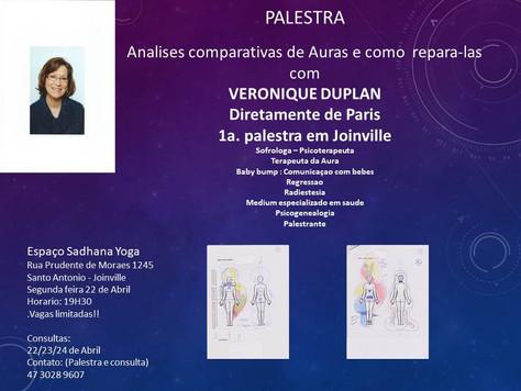 """Palestras e atendimento """"Leitura da Aura"""" - 22 a 24.abril"""