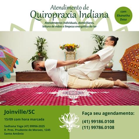 Atendimento individual com Quiropraxia Indiana - 15.setembro.2021