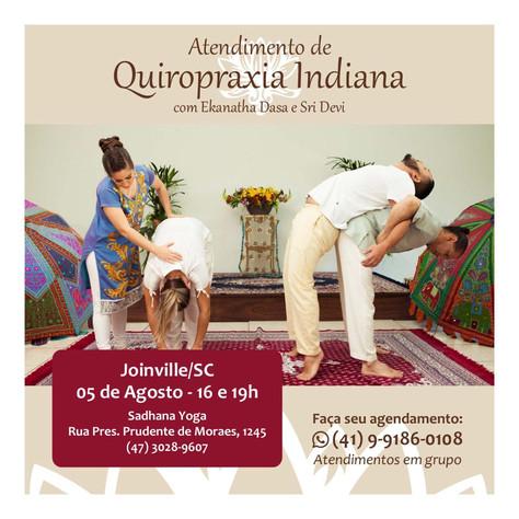 Atendimento com Quiropraxia Indiana - 5.agosto