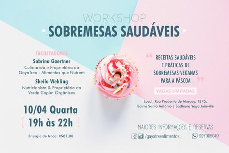 """Workshop """"Sobremesas Saudáveis"""" - 10.abril"""