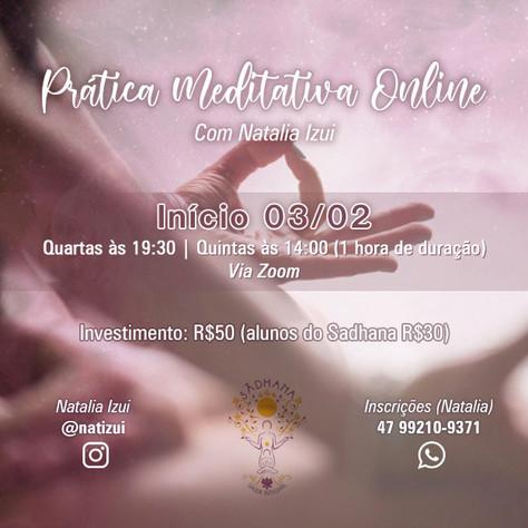 Prática meditativa online (semanal)_Início: 3 de fevereiro.2021