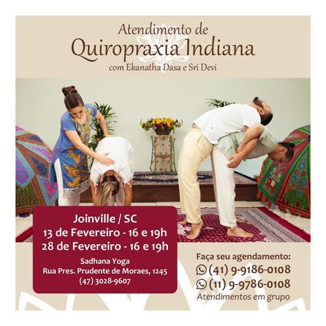 Atendimento com Quiropraxia Indiana - 13 e 28.fevereiro