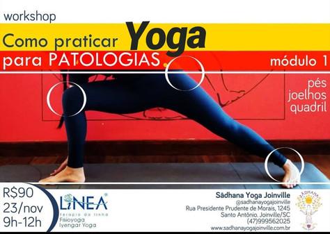 """Workshop """"Como praticar yoga para patologias"""" - 23.novembro"""
