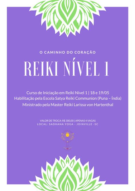 Curso de Iniciação em Reiki (Nível 1) - 18 e 19.maio