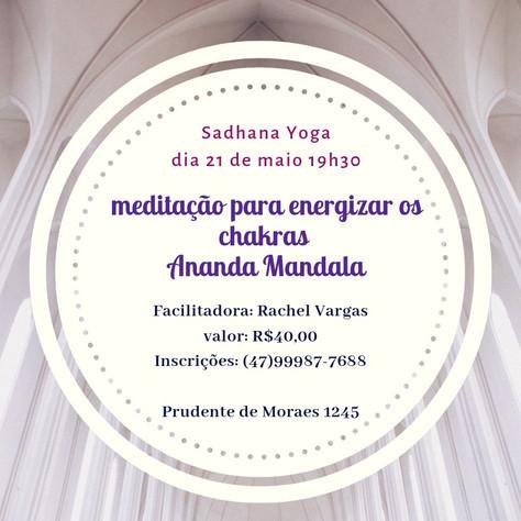 """Curso: meditação """"Ananda Mandala"""" - 21.maio"""