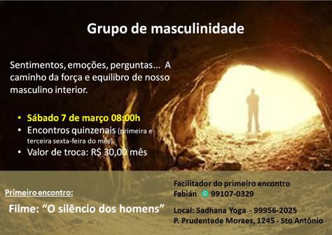 Grupo de Masculinidade (1º encontro) - 7.março