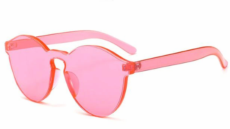 2020 One-Piece Design Clear Women Sunglasses Transparent Jelly Color  UV400