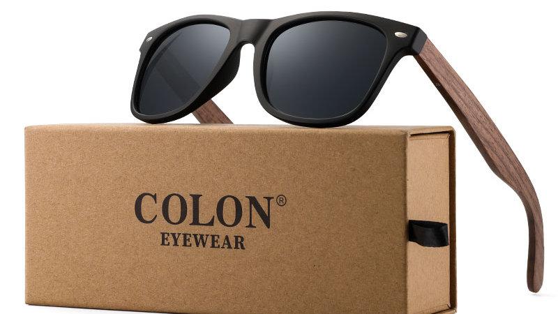 COLON Black Walnut Sunglasses Wood Polarized Sunglasses Men Glasses Men UV400