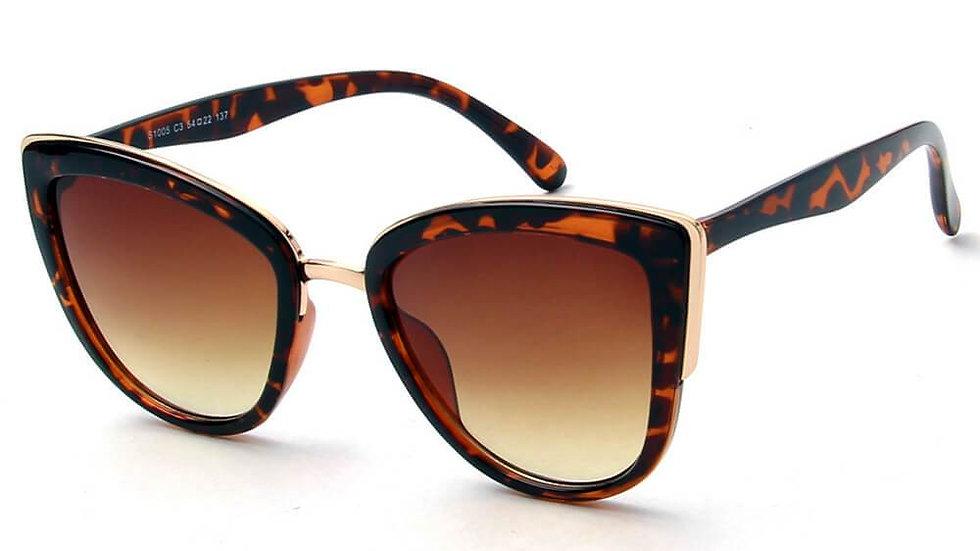 CHESTER   S1005 - Women's Vintage Retro Oversized Cat Eye Sunglasses