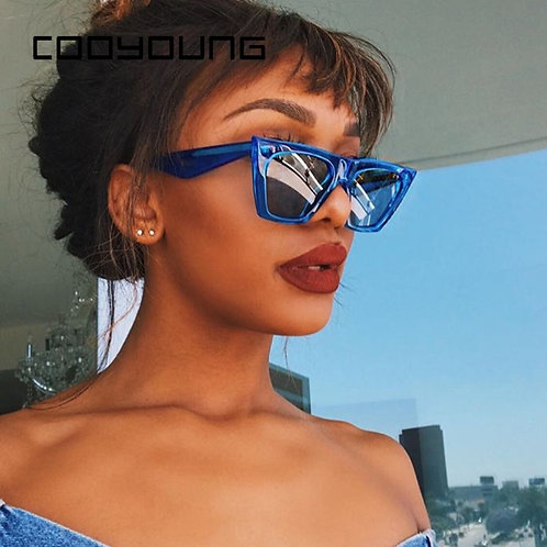 COOYOUNG New Oversized Sunglasses Women UV 400