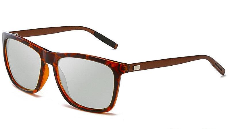AOWEAR Square Photochromic Sunglasses Women Polarized Lens