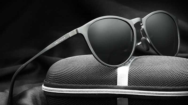 VEITHDIA Sun Glasses Retro Aluminum Magnesium Sunglasses