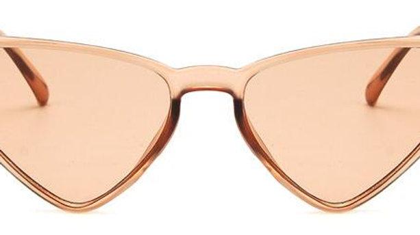Black Sun Glasses for Women Vintage Triangle UV400