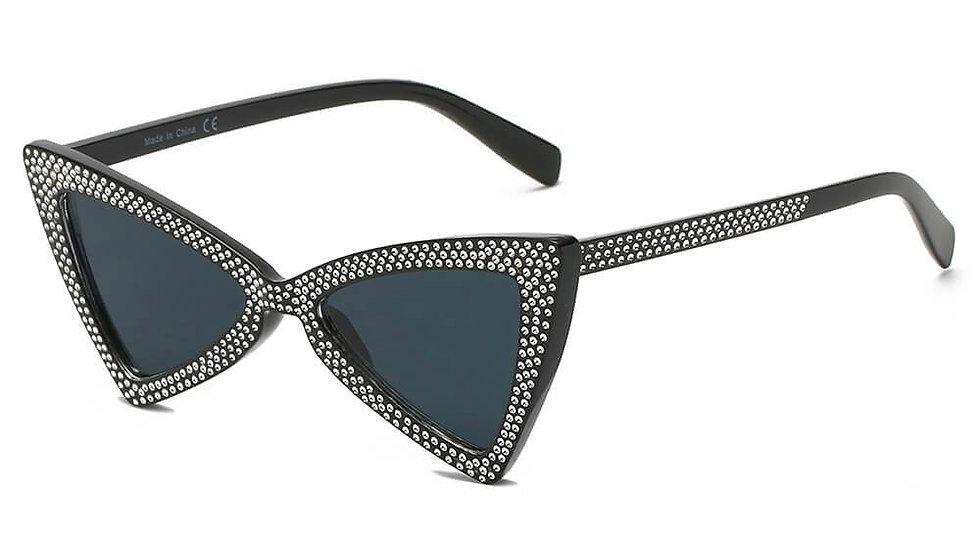 CANBERRA   S1078 - Women Retro Vintage Extreme Cat Eye Sunglasses