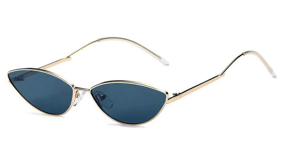 FLINT | S3012 - Small True Retro Vintage Slim Metal Sunglasses