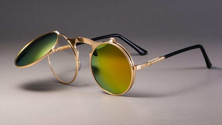Steampunk Sunglasses Round Metal