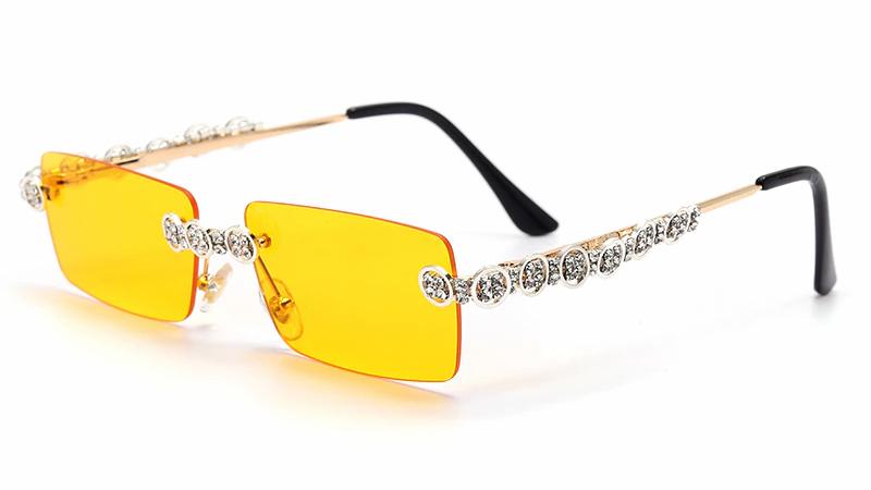 Rimless Diamond Sunglasses Women 2020 UV400
