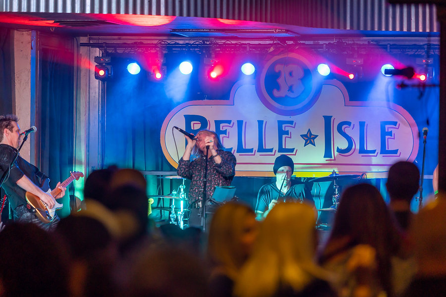 Live band on Belle Isle Stage