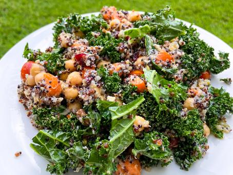 Quinoa Chickpea Kale Bowl