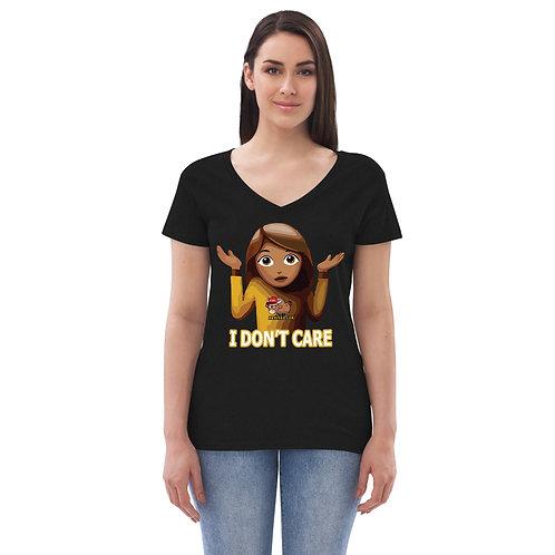 I Don't Care, Women's  v-neck t-shirt
