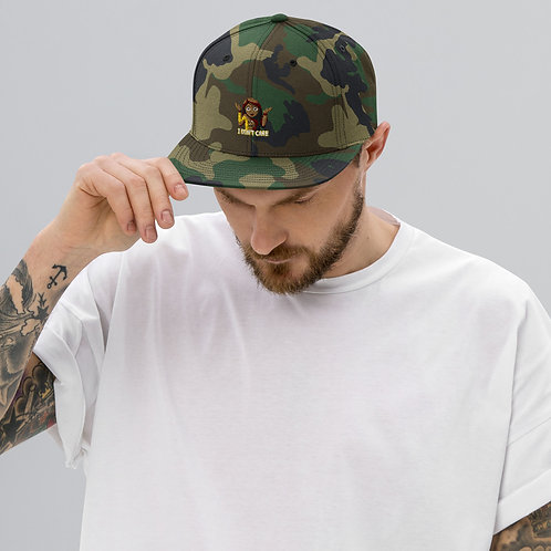 I Don't Care Snapback Hat