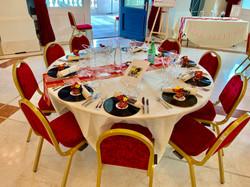 Déco de Table fais par les mariés