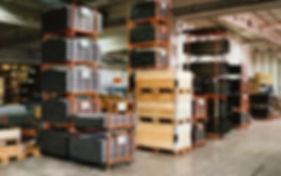 Pallsystem-lavat tuotannon varastoinnissa
