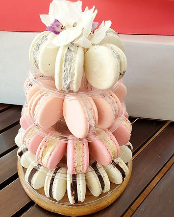 Boston Bonbon Mini Macaroon Tower great for bridal shower or baby shower