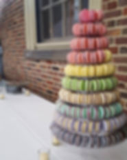 Macaron Tower Non-Traditional Wedding Cake