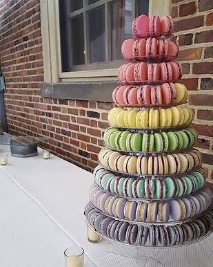 10 Tier Macaron Tower Non-Traditional Wedding Cake