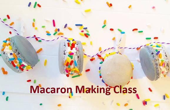 Macaron Making Virtual Class