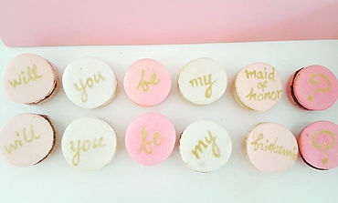 Bridesmaid Proposal Macaron Gift - Will You Be My Bridesmaid?