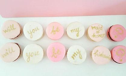 Bridesmaid Proposal Macaron